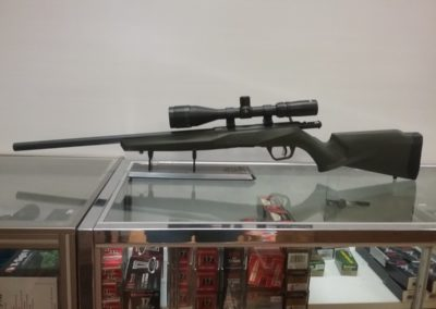 Leaves and Limbs - New Heavy Flutted barrel Bolt Action 22 with Varmint Scope