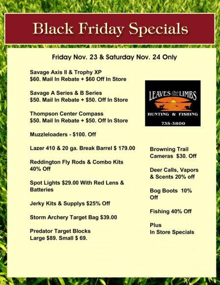 Leaves & Limbs - Black Friday Sale